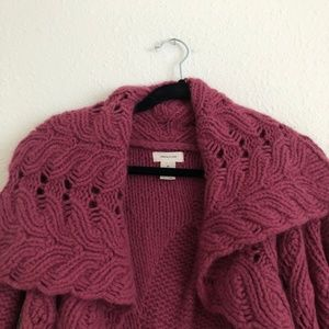 Anthropologie Sweaters - Anthro Sleeping On Snow Angora Sweater Rasp. Sz M